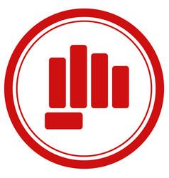 fist punch danger vector image