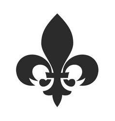 Fleur de lis black icon classic vintage ornament vector