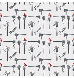 Fork of pasta pattern vector
