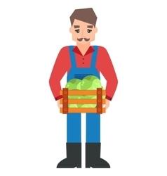 Funny farmer character vector