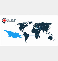 Georgia location on the world map for vector