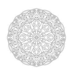 Golden Mandala Floral ethnic abstract decorative vector image
