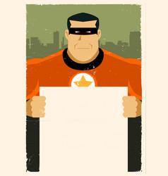 Grunge urban super hero ad sign vector