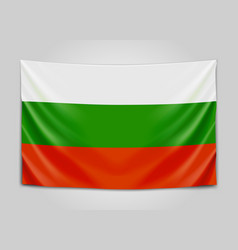 Hanging flag of bulgaria republic of bulgaria vector