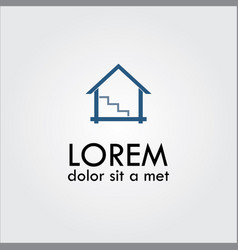 home abstract logo vector image