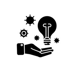 idea experience black icon sign on vector image