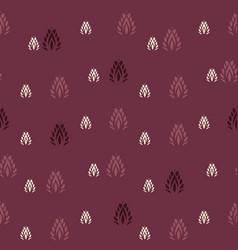 Indian leaf shapes on vine red vector