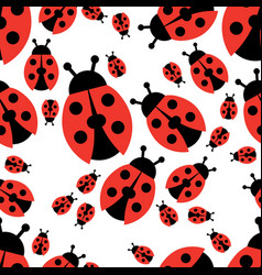 Ladybird seamless pattern vector