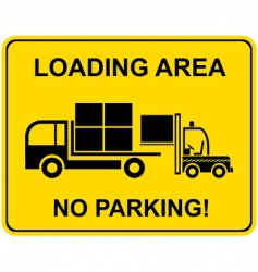loading area no parking vector image vector image