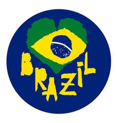 love brazil america vintage national flag in vector image