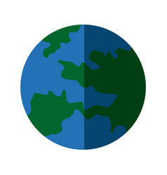map global world earth round icon vector image