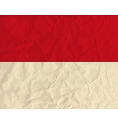 Monaco paper flag vector