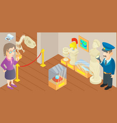 Museum concept cartoon style vector