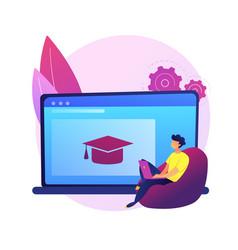 Online preparation for lesson concept vector