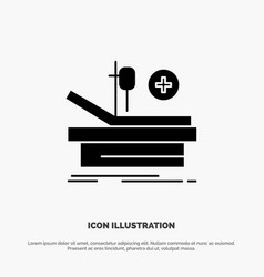 Operation theater medical hospital solid glyph vector