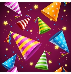 Party Hat Background Pattern vector