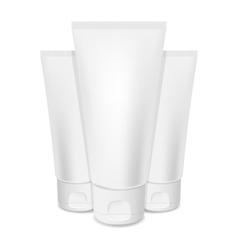 Photorealistic cream tubes vector
