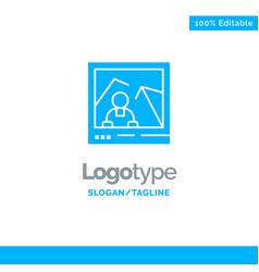 Picture image landmark photo blue business logo vector