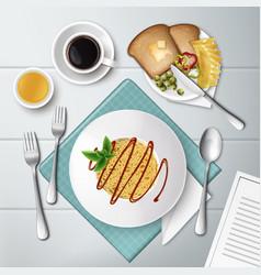 plate of spaghetti vector image