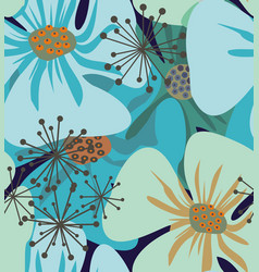 Poppy flowers elegant vector