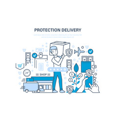 protection delivery guarantee of complete and vector image