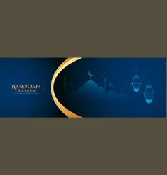 Ramadan kareem wishes banner with text space vector