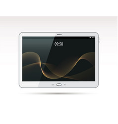 realistic white tablet pc computer vector image