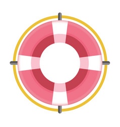 Red colored flotation ring vector