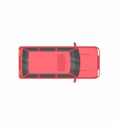 red minivan top view vector image