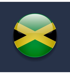 Round icon with flag of Jamaica vector