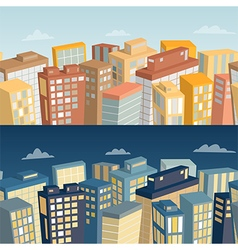 seamless background with city landscape vector image