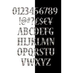 Silver 3d broadway alphabet vector