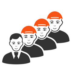 team manager icon vector image