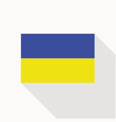 ukraine flag flat icon vector image