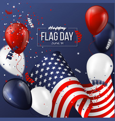 usa flag day holiday design vector image