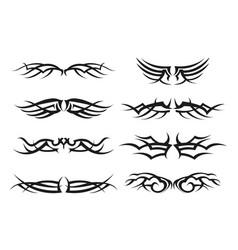 variety tribal symbol set vector image