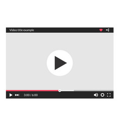 video player interface web screen template media vector image
