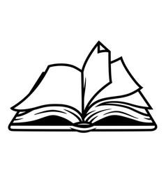 Vintage open book concept vector