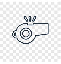 whistle concept linear icon isolated on vector image