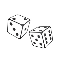 white dice vector image