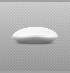 white round pillow - side view lying on flat vector image
