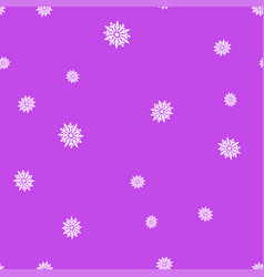 white snowflakes on a purple background seamless vector image