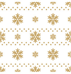 winter white background with gold snowflakes for vector image