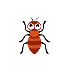 With cartoon ant isolated on white vector