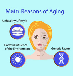 With reasons of aging vector
