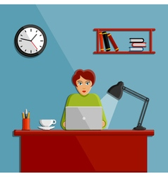 Woman working in the office vector image