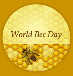World bee day concept ecological event background vector