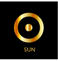 Zodiac and astrology symbol of the planet sun vector