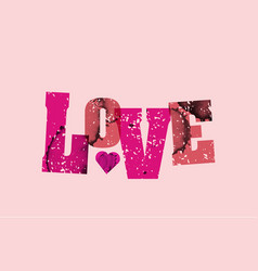 love concept stamped word art vector image