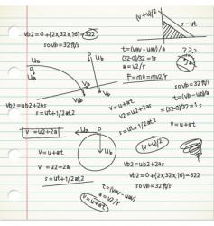 physic formula vector image